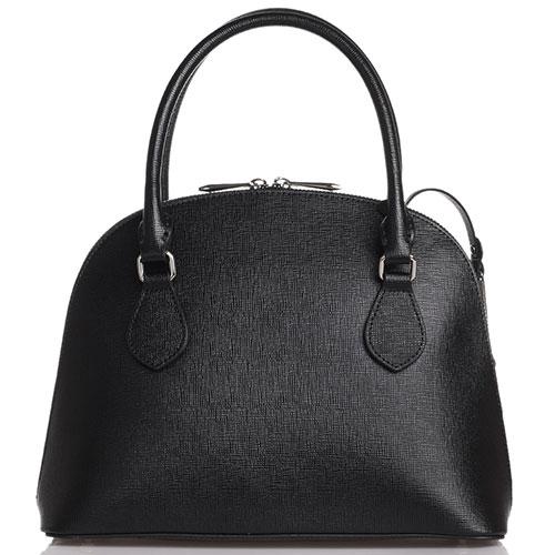 Черная сумка-купол Cromia Mina с тиснением сафьяно, фото