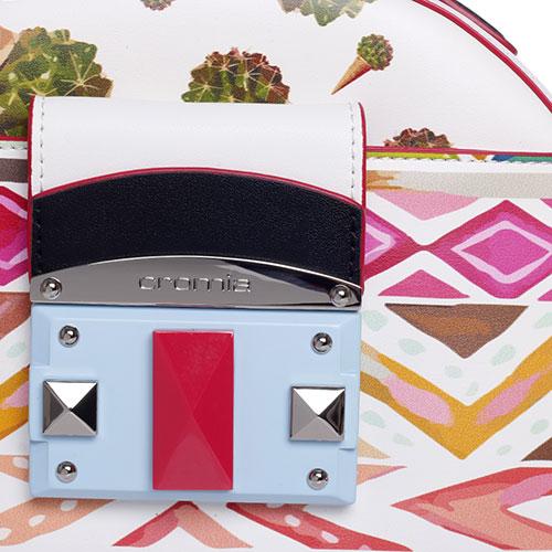 Сумка Cromia It Eshe белого цвета с принтом-орнаментом, фото
