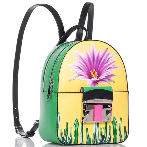 Зеленый рюкзак Cromia It Hazika с цветочным принтом, фото