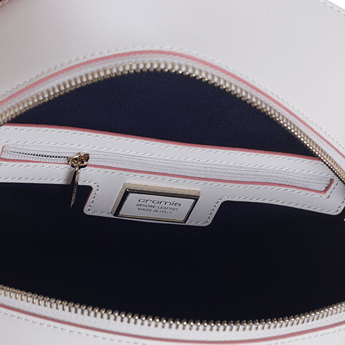 ad2ac1014ce2 ☆ Рюкзак Cromia Nubia белого цвета с розовой окантовкой купить в ...