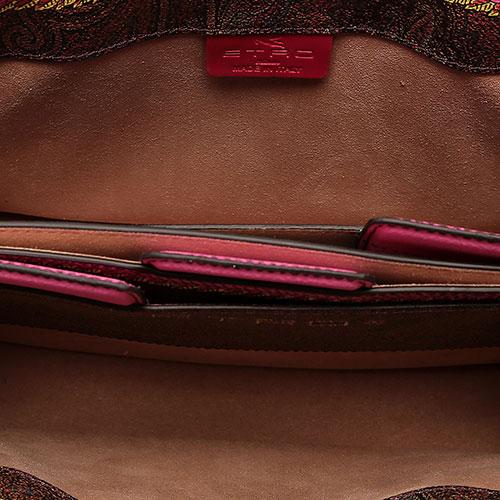 Коричневая сумка Etro с декором-принтом, фото