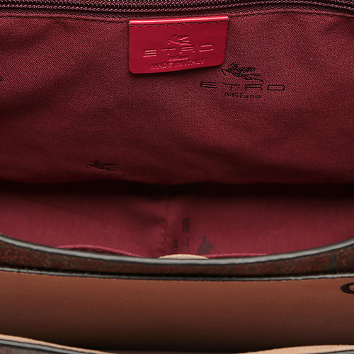 Сумка Etro с принтом коричневого цвета, фото