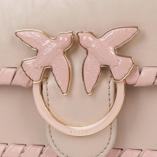 Сумка флеп-бег Pinko Mini Love бежевого цвета, фото