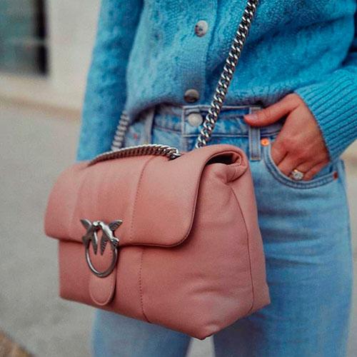 Сумка флеп-бег Pinko розового цвета, фото