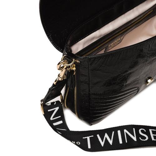 Сумка через плечо Twin-Set Rebel из глянцевой кожи, фото