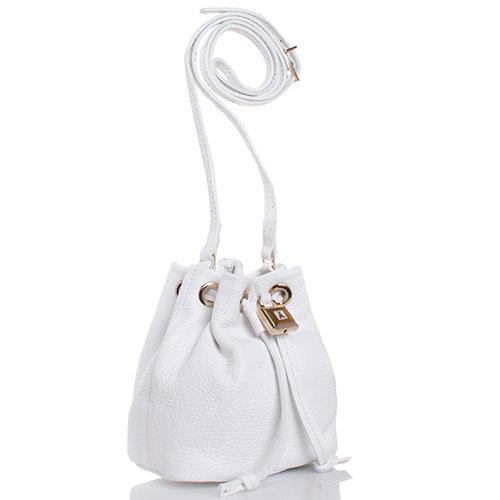 Белая сумочка Patrizia Pepe из крупнозернистой кожи, фото