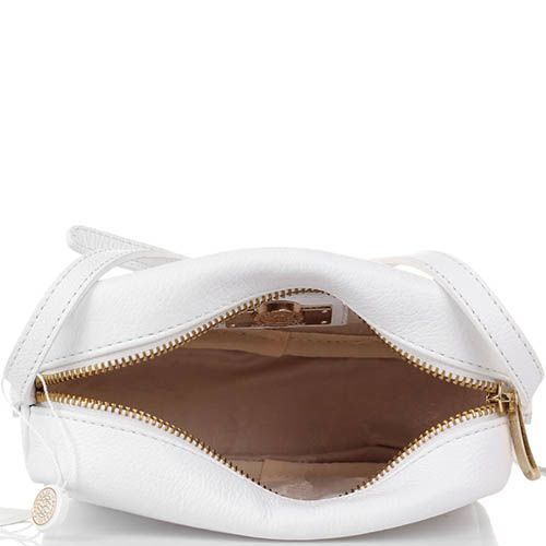 Маленькая сумочка Capoverso из зернистой кожи белого цвета, фото