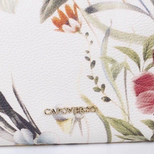 Сумочка Capoverso из мягкой зернистой кожи с разноцветным цветочным принтом, фото