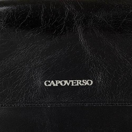 Рюкзак из полированной кожи Capoverso тиснением в виде шипов на наружном кармане, фото