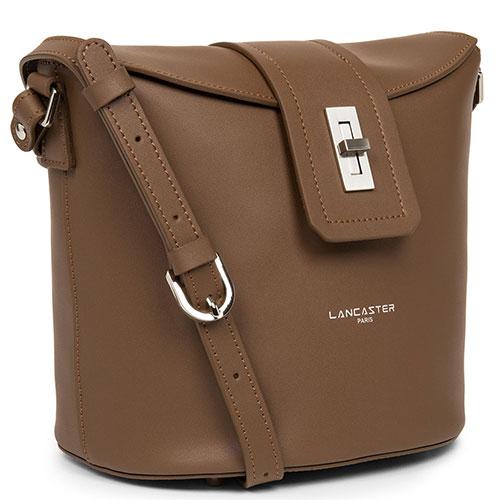 Коричневая сумка Lancaster City Mae из гладкой кожи, фото