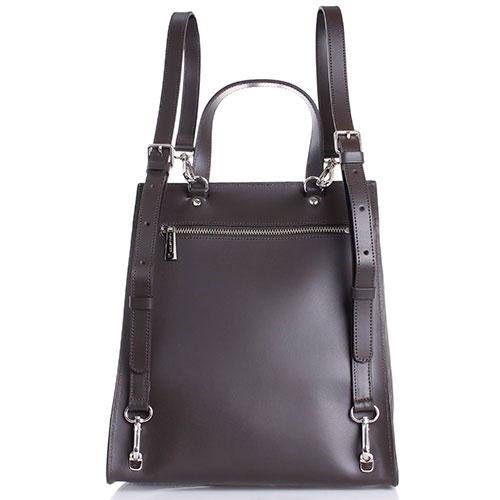 Рюкзак Lancaster из гладкой коричневой кожи, фото