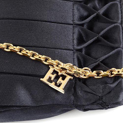 Сумка-клатч Escada черная шелковая на цепочке, фото