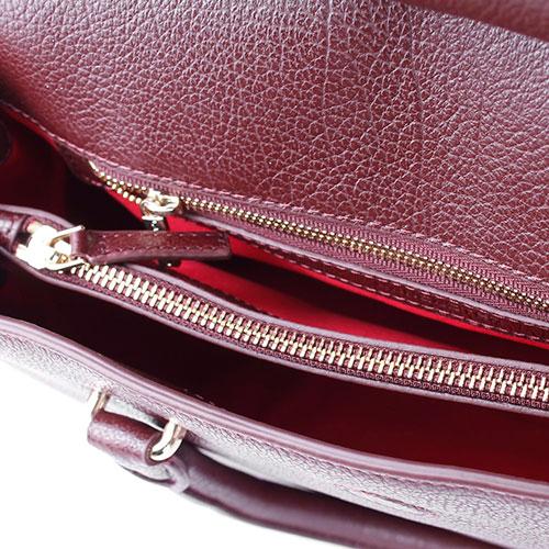 Маленькая сумка Lancaster из мягкой зернистой кожи цвета золотистый портвейн, фото