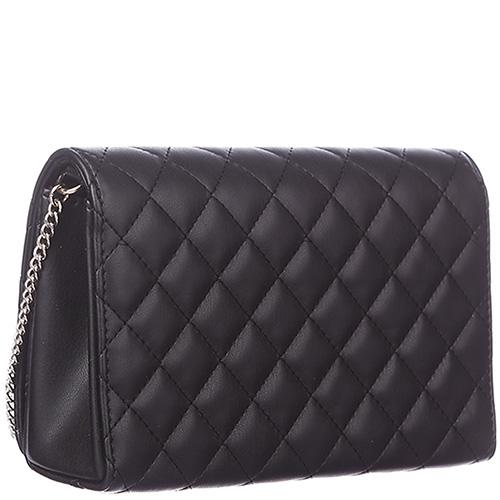 Стеганая черная сумка Love Moschino на цепочке, фото