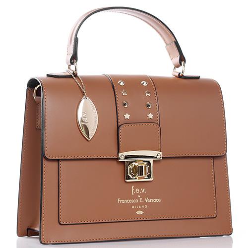 Деловая сумка Francesca E.Versace с металлическим декором, фото