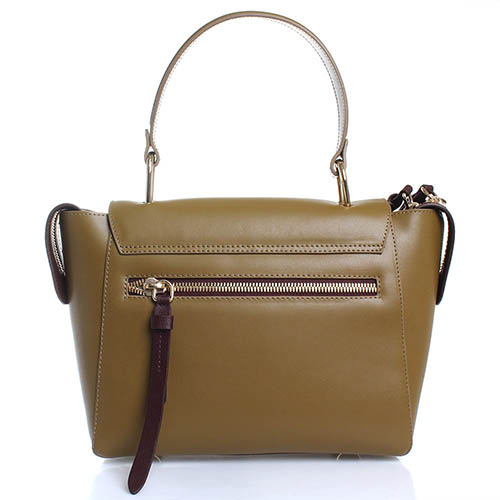 Кожаная сумка Giorgio Fabiani зеленого цвета, фото