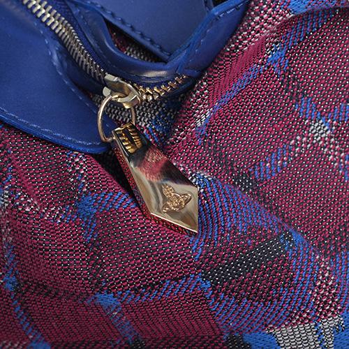 Женская сумка Vivienne Westwood в крупную клетку, фото