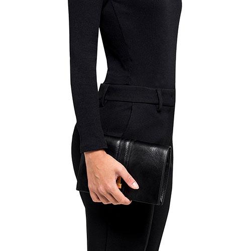 Клатч Gianni Chiarini Preziosa из кожи черного цвета, фото