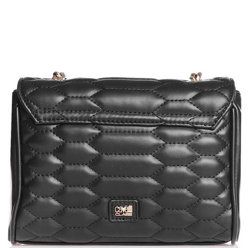 Черная сумка Cavalli Class Nives со стежкой, фото