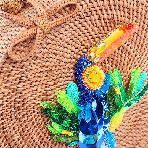Круглая сумка J'amemme Toucan с ярким декором, фото