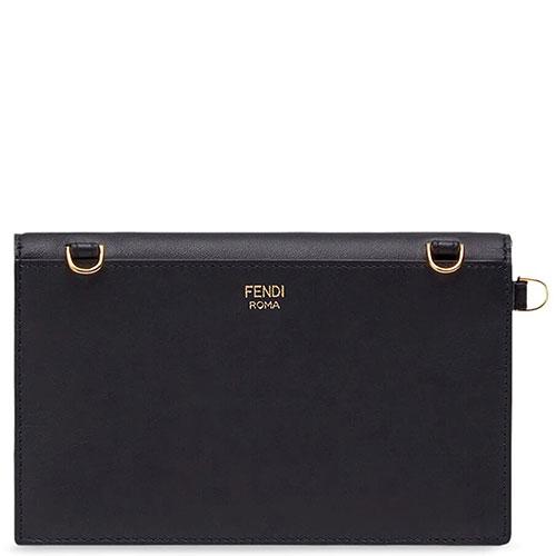 Женская сумка Fendi из черной кожи, фото