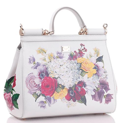 Сумка-тоут Dolce&Gabbana Borsa a Mano с цветочным принтом, фото
