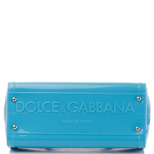 Сумка-тоут Dolce&Gabbana Sicily в голубом цвете, фото