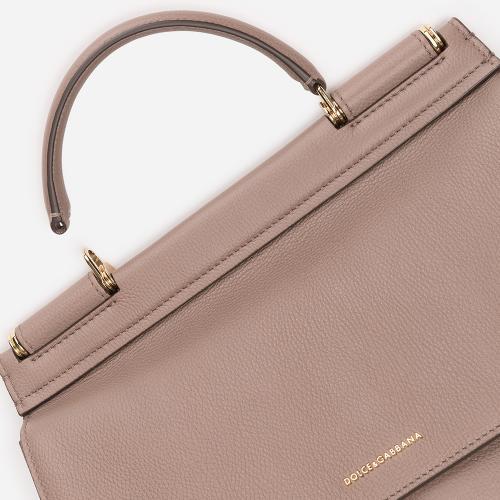 Женская сумка Dolce&Gabbana Sicily Soft бежевого цвета, фото