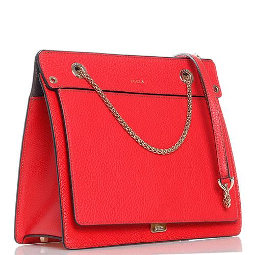 Красная сумка Furla Like треугольной формы, фото