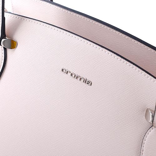 Бежевая сумка Cromia Perla трапециевидной формы, фото