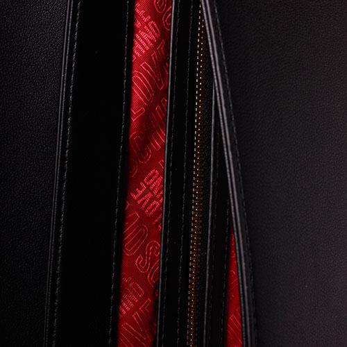 Черная сумка Love Moschino с декором в виде платка, фото