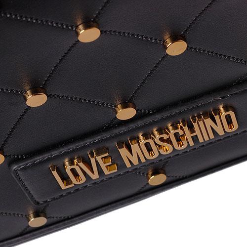 Черная сумка Love Moschino с декором-заклепками, фото