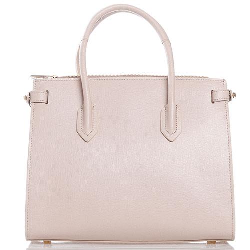 Бежевая сумка Furla Pin с золотистой фурнитурой, фото