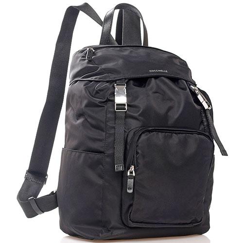 Текстильный рюкзак Coccinelle Aiden черного цвета, фото