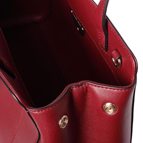 Бордовая сумка Emporio Armani на широком ремне, фото