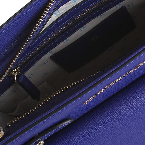 Сумка прямоугольной формы Trussardi Jeans синего цвета, фото