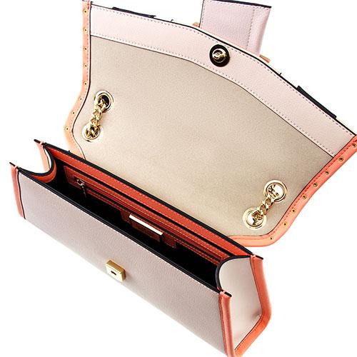 Сумка-клатч Cromia Stripe на цепочке, фото