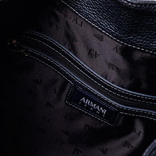9422c995fd3f ☆ Синяя сумка-мешок Armani Jeans с металлическим блеском 922286 ...