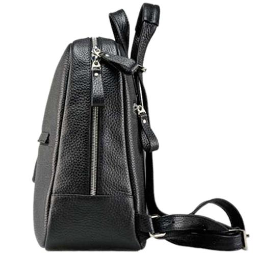 Рюкзак Amo Accessori Comfort из черной зернистой кожи, фото