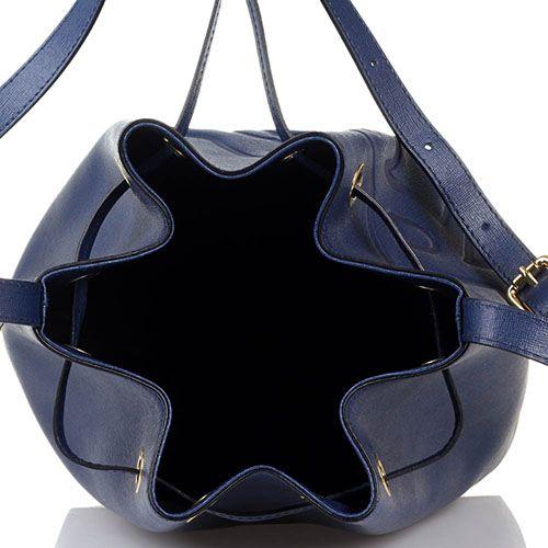 04f74bda01d2 ☆ Сумка-мешок Braccialini синего цвета с тиснением Сафьяно купить в ...