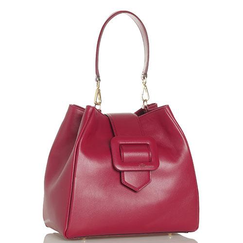 Сумка-мешок Blumarine Astrid бордового цвета, фото