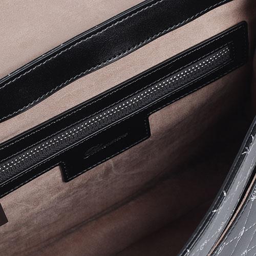 Черная сумка Blumarine B Obsession с декором-принтом, фото