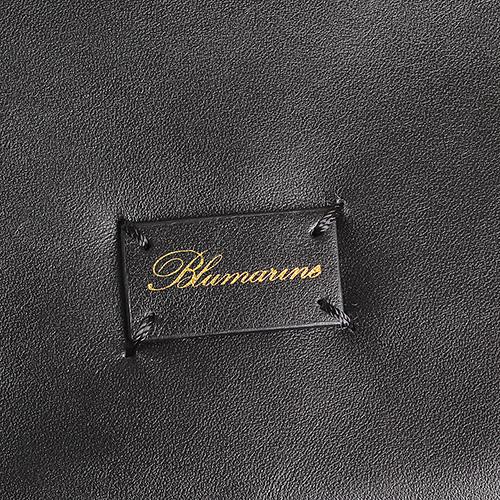 Черная сумка из гладкой кожи Blumarine Josephine с бахромой, фото