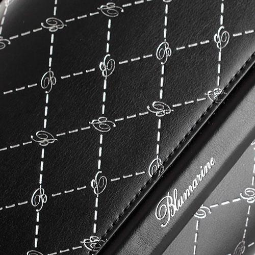 Черный клатч Blumarine Obsession с фирменным тиснением, фото
