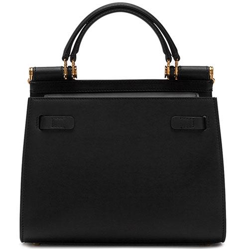 Сумка-тоут Dolce&Gabbana Sicily черного цвета, фото