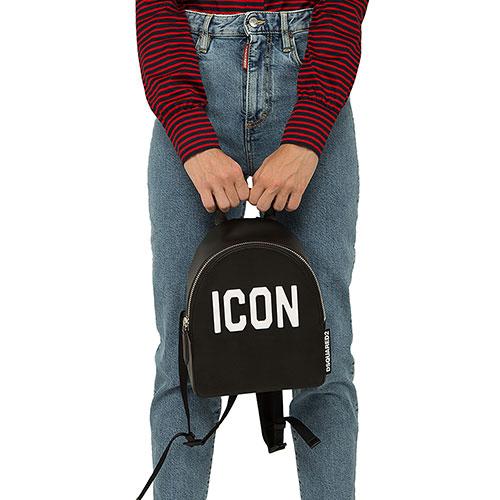 Рюкзак Dsquared2 из кожи черного цвета, фото