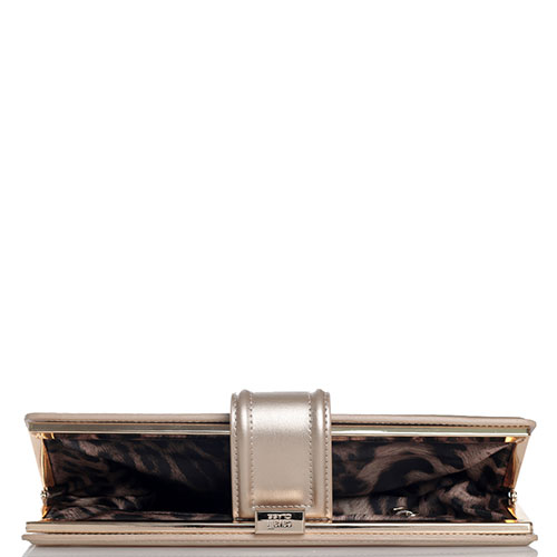 Золотистый клатч Cavalli Class Bel Air с декором-замком, фото