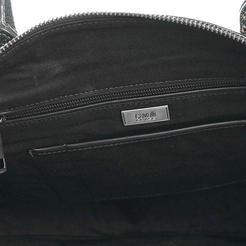 Серая сумка Cavalli Class Phoenix из зернистой кожи, фото