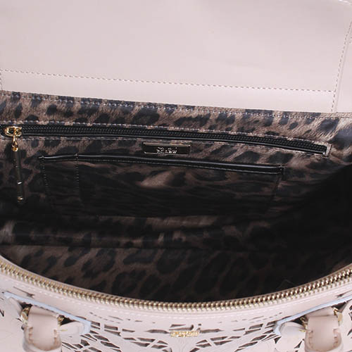 Бежевая сумка Cavalli Class Stardust с декоративной перфорацией, фото