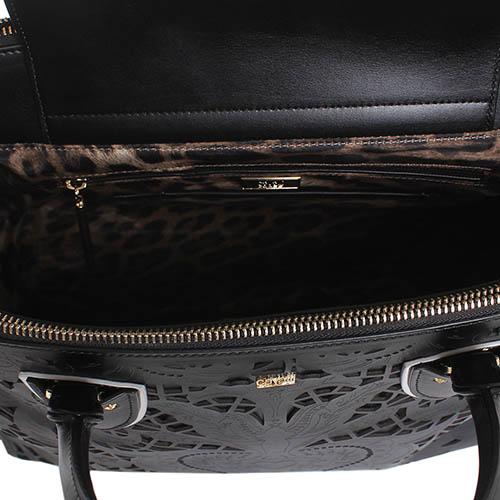 Сумочка Cavalli Class Stardust черного цвета с декоративной перфорацией, фото